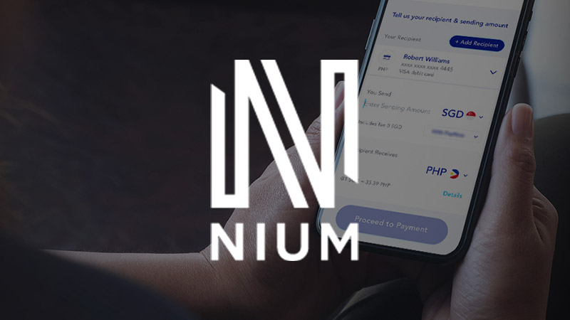 Nium app on smartphone.